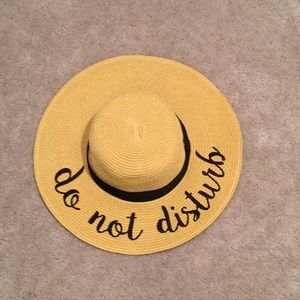 "Other - Sun Hat with ""Do Not Disturb"" embroidery"